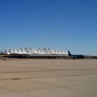 Denver International Airport from the tarmac.