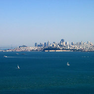 A view of San Francisco from Marin County.