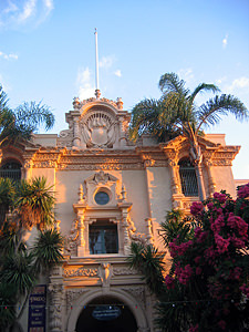 Thumbnail image of A view of the House of Hospitality in Balboa Park.