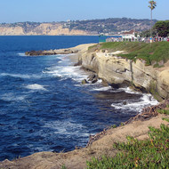 The La Jolla coastline.