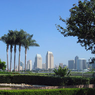 A view of downtown San Diego from Coronado Island.