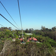 A view of San Diego Zoo from the aerial tram.