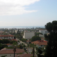 A view of the Santa Barbara coastline from the county administration building tower.