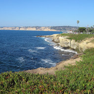 A view of the coast at La Jolla.