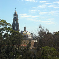 The San Diego Museum of Man from the San Diego Zoo aerial tram.