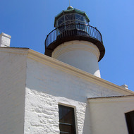The Old Point Loma Lighthouse at the Cabrillo National Monument.