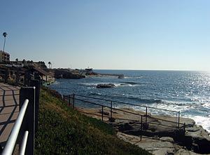 Thumbnail image ofA coastal view from at La Jolla, north of San...