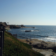 A coastal view from at La Jolla, north of San Diego.