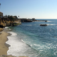 The coastline at La Jolla, north of San Diego.