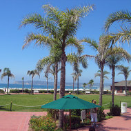The oceanside grounds of the Hotel del Coronado on Coronado Island.