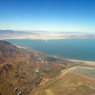 A view of the southern reach of the Great Salt Lake .