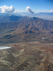 Thumbnail image ofThe Oquirrh Range just south of the Great Salt...