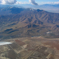 The Oquirrh Range just south of the Great Salt Lake.