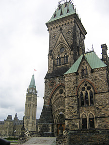 Thumbnail image ofThe East Block of Parliament Hill in Ottawa, with...