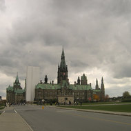 The West Block of Parliament Hill in Ottawa.