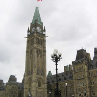 The Centre Block of Parliament Hill in Ottawa.