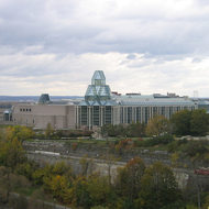 The National Gallery of Canada from Parliament Hill.