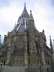 Thumbnail image ofThe Library of Parliament on Parliament Hill in...