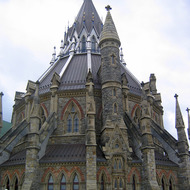 The Library of Parliament on Parliament Hill in Ottawa.