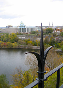 Thumbnail image ofThe National Gallery from Parliament Hill in Ottawa.
