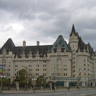The Fairmont Chauteau Laurier Hotel in Ottawa.