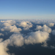 Clouds from a commercial jet.