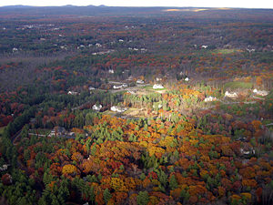 Thumbnail image of Landing in Manchester, New Hampshire in Fall.