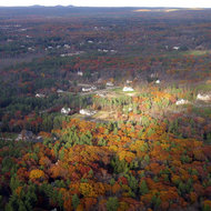 Landing in  Manchester, New Hampshire in Fall.