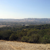 Looking out over Sonoma from the Overlook Trail.