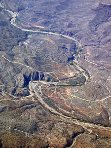 Thumbnail image ofAn aerial view of a stretch of the Agua Fria River...