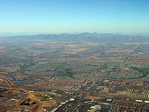 Thumbnail image of An aerial view of the Phoenix, Arizona region.