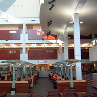 An interior view of the Lied Library at the University of Nevada, Las Vegas.