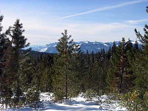 Thumbnail image ofLooking to Castle Crags from Mt. Shasta.