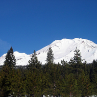 Mt. Shasta in winter (December 2006).