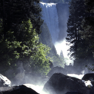 The Mist Trail on the way to Vernal Falls in Yosemite National Park.