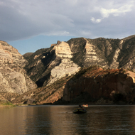 Floating toward the Gates of Lodore on the Green River, Dinosaur National Monument.