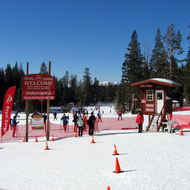 The Royal Gorge Cross Country Ski Resort in the Sierra Nevada Mountains.