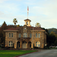 The town hall of the city of Sonoma.