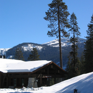 Wuksachi Lodge in winter, Sequoia National Park, California.