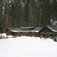 The Giant Forest Museum in winter, Sequoia National Park.