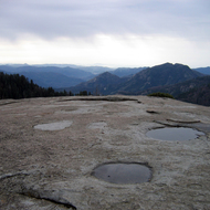 The view from Beetle Rock in winter, Sequoia National Park.