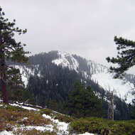 Big Baldy (8,209 ft.) in winter, Kings Canyon National Park.