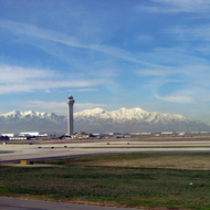 A view of the Oquirrh Range from the Salt Lake International Airport.