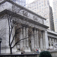 The main branch of the New York Public Library.