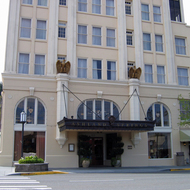 The historic Ashland Springs Hotel in Ashland, Oregon.