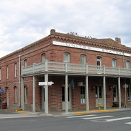 The United States Hotel building in historic Jacksonville, Oregon.