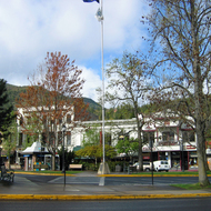 A view of downtown Ashland, Oregon.