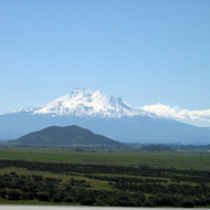 A view of Mt. Shasta from the northwest on I-5.