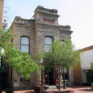 An historic building (formerly a library) in downtown Napa.