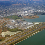 Oakland International Airport from the air.